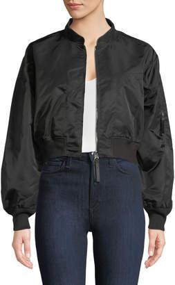 Alexander Wang Zip-Front Twill Jacket
