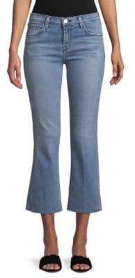 J Brand Selena Mid-Rise Cropped Flare Jeans