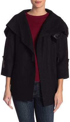 Blend of America Beyond Threads Julia Felted Wool Blend Leather Accent Jacket