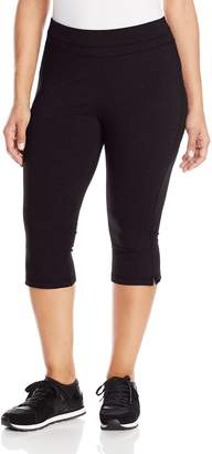 Spalding Women's Plus-Size Straight Leg Crop Pant