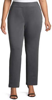 Liz Claiborne Comfort Fit Pull On Pant - Plus