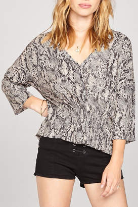 Amuse Society River Woven Top
