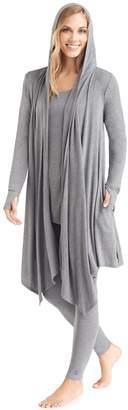 Cuddl Duds Women's Softwear Hooded Wrap Cardigan