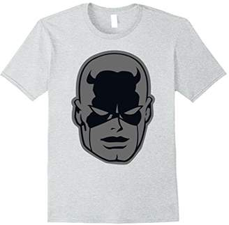 Marvel Daredevil Classic Retro Greyed Out Big Head T-Shirt
