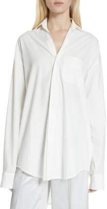 Vince Oversize Classic Cotton & Silk Shirt