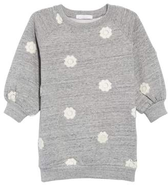 Chloé Floral Embroidered Sweatshirt Dress