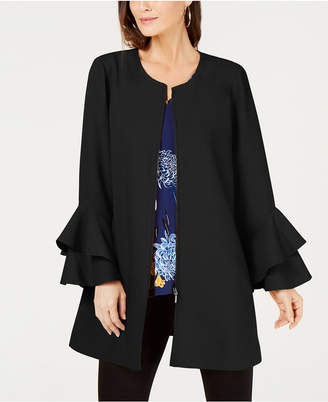 Alfani Flared-Sleeve Collarless Jacket