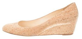 Christian Louboutin  Christian Louboutin Cork Round-Toe Wedges