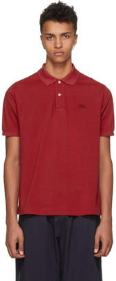 Junya Watanabe Red Lacoste Edition Logo Polo