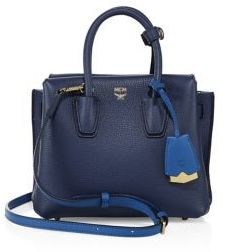 MCM Milla Mini Two-Tone Leather Tote $720 thestylecure.com
