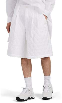 Comme des Garcons Men's Quilted Wide-Leg Pleated Shorts