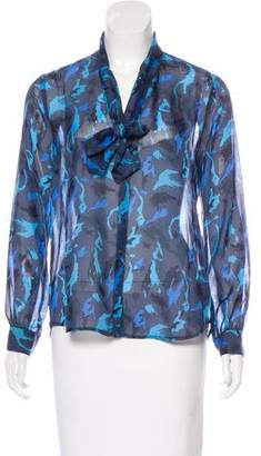 L'Agence Silk Patterned Blouse w/ Tags