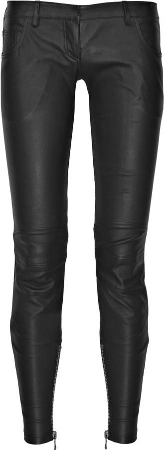 Balmain Leather motocross pants