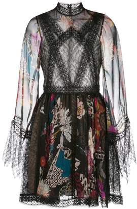ZUHAIR MURAD floral print flared dress