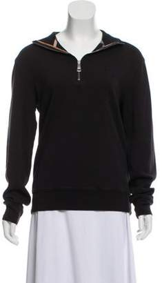 Burberry Knit Mock Neck Sweatshirt Black Knit Mock Neck Sweatshirt