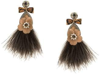 Ranjana Khan feather flower earrings