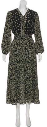 Double Rainbouu Floral Print Maxi Dress w/ Tags Black Double Rainbouu Floral Print Maxi Dress w/ Tags