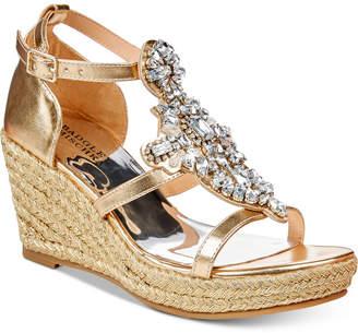 Badgley Mischka Sophia Barre Embellished Wedge Sandals, Little Girls (11-3) & Big Girls (3.5-7)