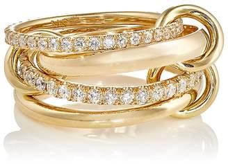 Spinelli Kilcollin Women's White Diamond-Embellished Chain Ring