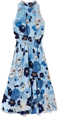 Vince Camuto Halterneck Ruffle Dress