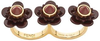 Fendi Flowerland double-finger ring