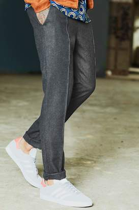 boohoo Dele Pin Tucked Wool Blend Formal Jogger