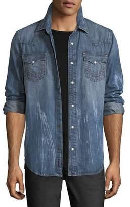 True Religion Ryan Denim Western Shirt