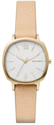 Women's Skagen Rungsted Leather Strap Watch, 30Mm $145 thestylecure.com