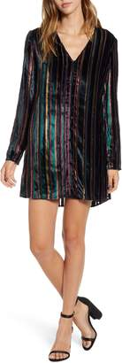 Leith Long Sleeve Button Front Dress