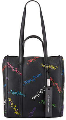 Marc Jacobs x New York Magazine The Tag Logo Leather Tote Bag