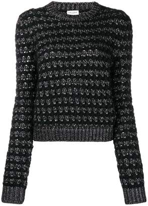 Saint Laurent zigzag knit jumper