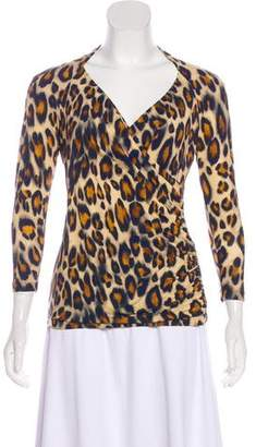 Lafayette 148 Printed Long Sleeve Top