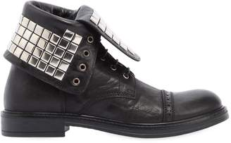 Momino Studded Nappa Leather Combat Boots