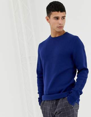 Jack and Jones Knitted Sweater With Straight Edge Hem
