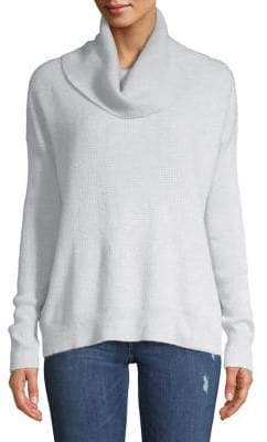 Lord & Taylor Waffle-Knit Cowlneck Cashmere Sweater
