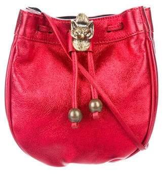 Philosophy di Lorenzo Serafini Metallic Leather Bucket Bag