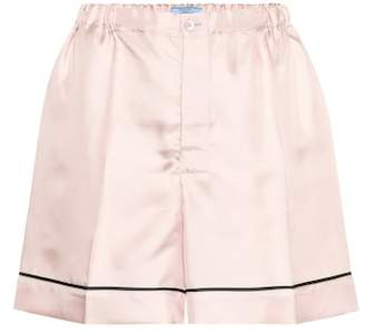 Prada Silk-satin shorts