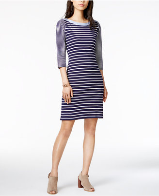 Tommy Hilfiger Cotton Striped Sheath Dress, Only at Macy's $99.50 thestylecure.com