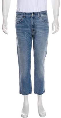 Gucci Distressed Flat Front Jeans