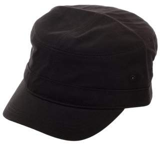 George Men's Solid Black Military Cadet Cap
