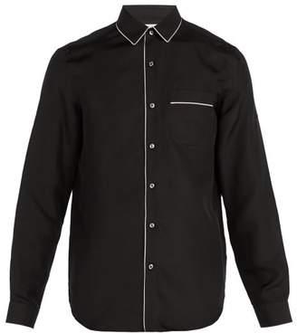 Valentino - Pyjama Style Silk Shirt - Mens - Black