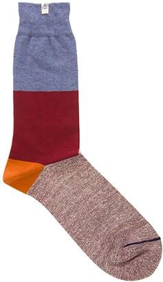 Melange Home 40 Colori Jeans Blue Striped Linen & Organic Cotton Socks