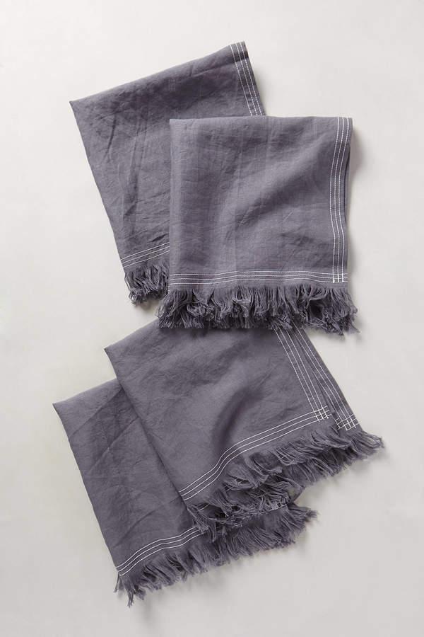 AnthropologieAnthropologie Stitched Linen Napkin Set