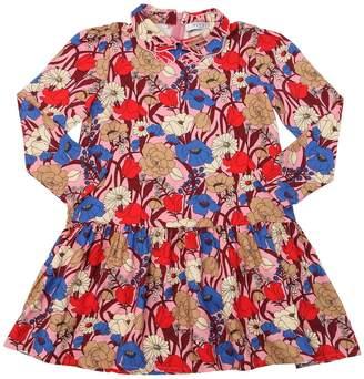 Floral Print Light Viscose Flannel Shirt