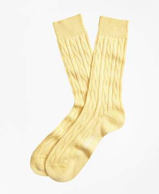 Brooks Brothers Cable Crew Socks