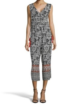 John Paul Richard Printed Tassel Jumpsuit