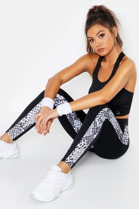 9ca754535cf4 boohoo Fit Snake Print Running Leggings
