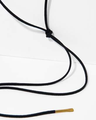 7 For All Mankind Five and Two Mason Lariat in Black