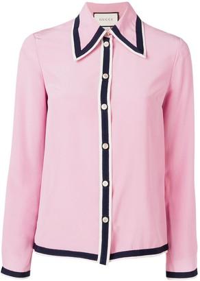 Gucci contrast trim shirt
