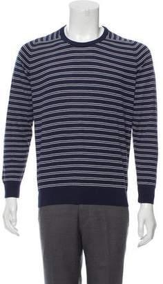 Luciano Barbera Striped Crew Neck Sweater w/ Tags
